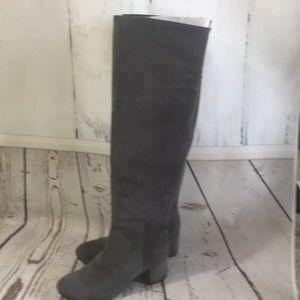 GREY SUEDE IVER KNEE BOOTS